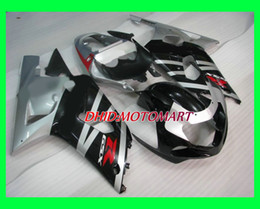 2003 gsxr 600 nero argento Sconti Kit carenatura per SUZUKI GSXR600 750 GSXR 600 GSXR 750 K1 01 02 03 2001 2002 2003 argento nero Carenature set SX42