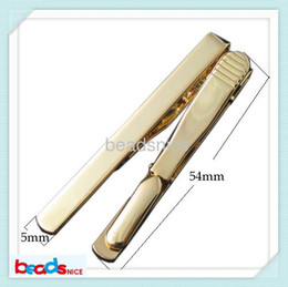 Read Top Canada - Beadsnice ID23637 free shipping read gold plated jewelry of top quality Ion Plating real 24k gold plated diy fashion Tie Clip