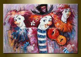 Wholesale Entranceway Oil Paintings - Entranceway decorative painting picture frameless decorative painting hand painted oil painting oil painting clown ch77