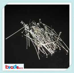 Wholesale Material Jewelry Making - Beadsnice ID3835 diy jewelry 925 head pins jewelry making material handmade findings accessories 50x0.6x1.5mm