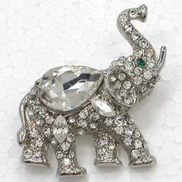 Moda Animal Brooches regalo de la joyería Clear Marquise Crystal Rhinestone Glass gems Elephant Brooch Pin Jewelry C314