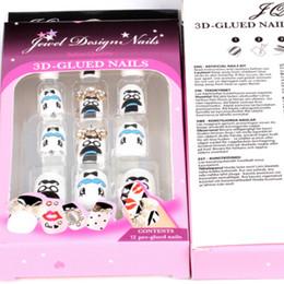 Wholesale 3d Nails Supply Wholesale - Nail Tips New 2013 Full Cover Acrylic False Nails 12 Boxs French Manicure Acrylic Nails Supplies 3D False nails Pre Design Nail Tips