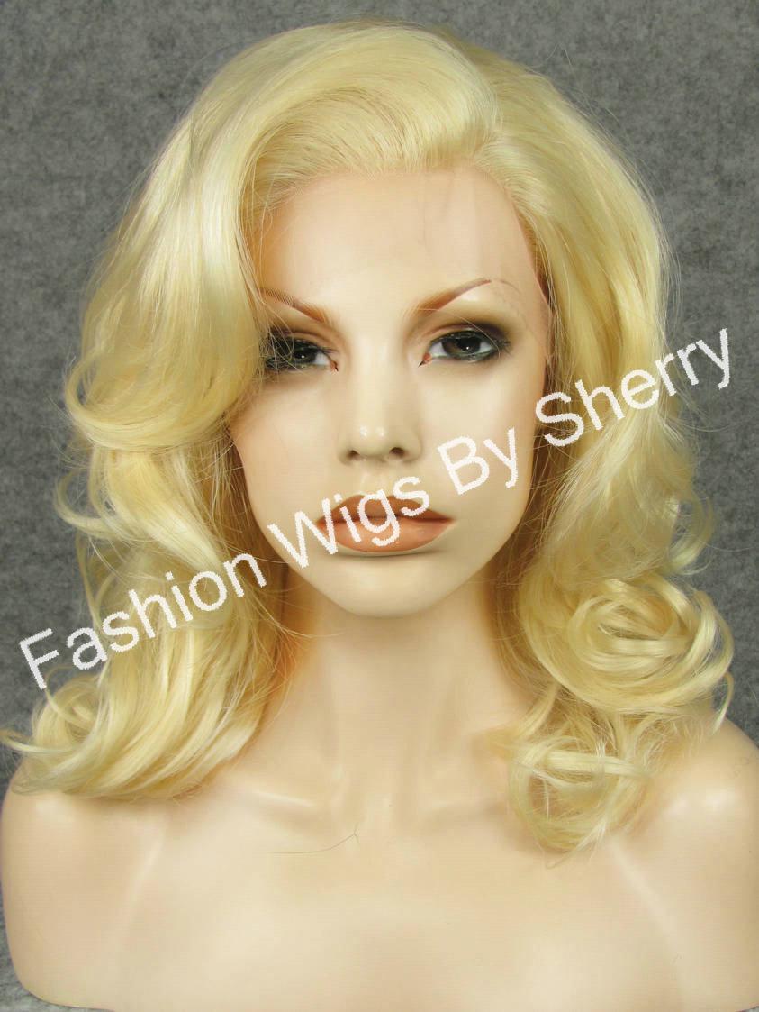 16 #613 Blonde Wavy Heavy Density Heat Friendly Synthetic