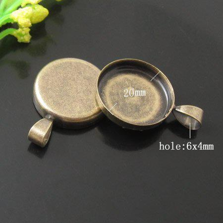 Beadsnice pendant cups bezel cameo blanks cabochon base setting for diy jewelry findings brass pendant base