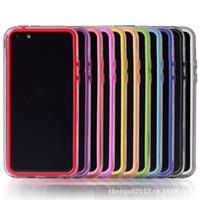 Wholesale Iphone5c Frame Bumper - TPU Bumper Frame Soft Gel Back Cover Case FOR Apple iphone 5C iphone5C