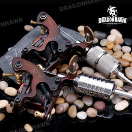 Wholesale Tattoo Machine Handmade Material - A+++ Quality 8 Wraps Coils Tattoo Machines Tattoo Gun Steel Frame Copper Coils Compass Tattoo Machine Tattoo Supplies Complete Tattoo Kits