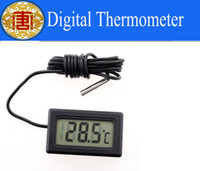 Wholesale Water Tank Digital Thermometer - Wholesale - Free Shipping New Aquarium LCD Digital Thermometer Fish Tank Water