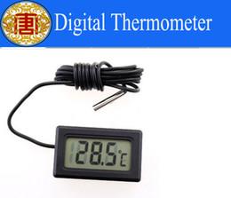 Wholesale Digital Aquarium Water Temperature - Wholesale - Free Shipping New Aquarium LCD Digital Thermometer Fish Tank Water