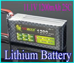 Wholesale Max Power Battery Ship - Lion power 11.1V 1200MAH 25C High Power lipo battery AKKU MAX RC Model+free shipping