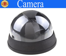 Wholesale Security Cam Dummy - Fake Dummy Dome Surveillance CAM Dummy Indoor Security CCTV Camera flashing for Home Camera LED