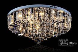 Wholesale Led Light Blubs - Dia 60cm 80cm LED RGB Chandelier Modern Crystal Chandeliers Lamp Pendant Light Droplight Ceiling Lighting E14 Blubs + Remote Control GHJC219