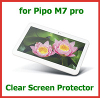 "Wholesale M7 Screen Protectors - 10pcs Customized Clear Screen Protector for PiPo M7 pro Quad Core 8.9"" Tablet PC Size 213*155.5mm Guard Film"