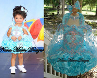 Wholesale Girls Fitted Skirts - custom made Pageant girls dress with off the shoulder Long straps beads and crystals fitted on the skirt stack up cupcake gowns 570