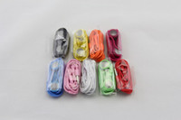Wholesale Iphone 3g Volume - Earphone for Iphone4 4S 3G earbuds 3.5mm stereo with mic not volume control 100cm high quality 10 colors free shipping 20pcs