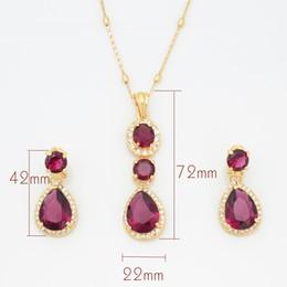 royal blue african jewelry set Australia - Royal blue jewelry set noble crystal bridal necklace crystal rhinestone pendant set A551