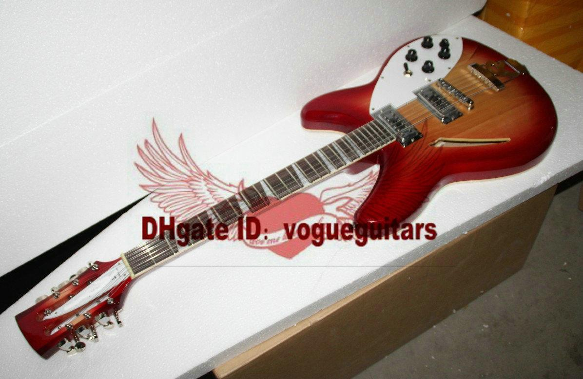 mejor guitarra china Deluxe 360/12 guitarra eléctrica personalizada Semi Hollow A1