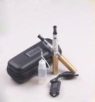 einzelne nadeln großhandel-NEUESTE Ego-T E-Zigarette Starter-Kits + Ego 650mAh Akku + CE4 Transparent Clearomizer USB-Ladegerät Nadelflasche AC Adapter eGo-T Case