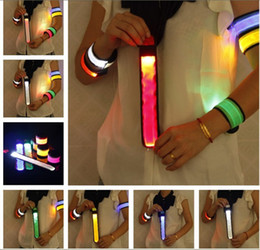 Wholesale Outdoor Sports 24 - 10pcs Outdoor Sports Safety LED Flashing Arm band Wrist Strap Armband for Climbing Cycling Free Shipping