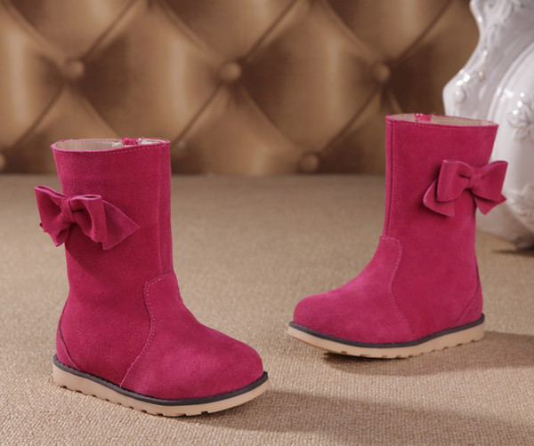 Cheap 2013 Hot Sale G.G Bear Girls Nubuck Boots Swede Leather ...