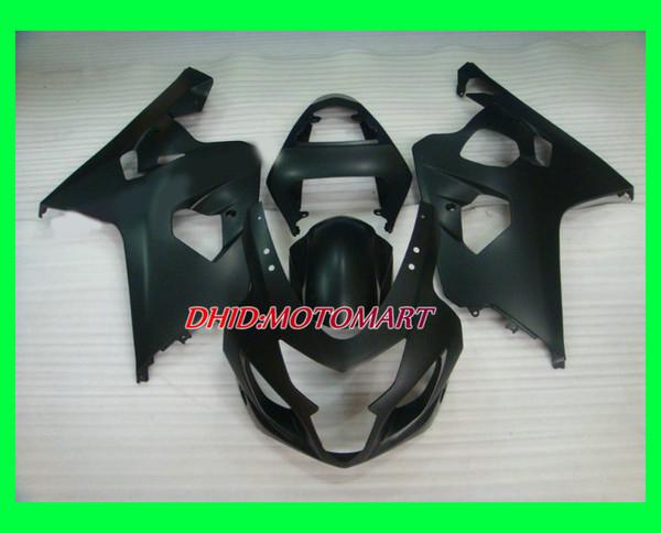 Kit de carenado de motocicleta para SUZUKI GSXR600 750 K4 04 05 GSXR 600 GSXR 750 2004 2005 ABS Todo negro mate Carenados conjunto SF16