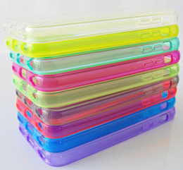 Wholesale Efit Iphone - DHL Crystal clear transparent TPU GEL Soft silicone Cover case for iPhone 5C iphone5c 5 C efit