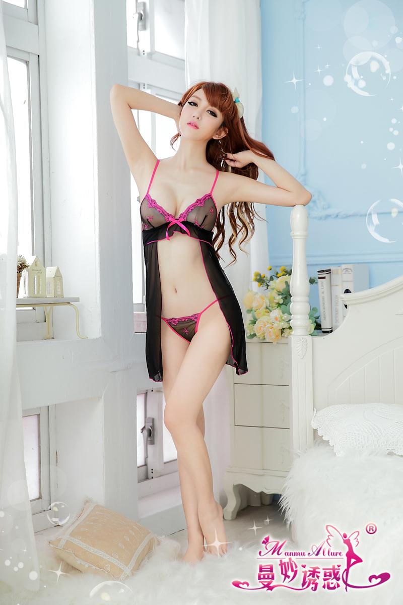Free &Amp; Drop Shipping,Sexy Babydoll Lingerie Black Color Open ...