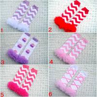 ingrosso calzini alti del ginocchio del bambino-I bambini calze a righe Lace Ruffle Scaldamuscoli Infant Socks stampati Knit Calzettoni neonate Sock