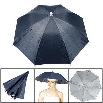 Lot 5 mains libres pêche pluie soleil parapluie chapeau bonnet bleu marine
