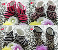 Wholesale Toddler Girls Winter Boots Cheap - Baby Leopard Snow Boots Cheap Kids Shoes Unisex Boots toddler shoes infant shoes Winter Warm Shoes Baby cotton boots