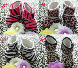 Wholesale Cheap Leopard Boots - Baby Leopard Snow Boots Cheap Kids Shoes Unisex Boots toddler shoes infant shoes Winter Warm Shoes Baby cotton boots