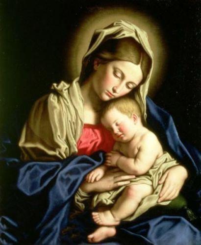 Prière de réparation samedi 21.. Oil-painting-madonna-virgin-mary-child-christ