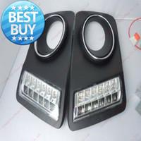 led luces de circulación diurna para volkswagen al por mayor-Excelente automóvil específico Volkswagen Tiguan Led DRL led Daytime Running Light de calidad superior para el envío gratuito