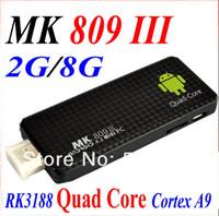 Wholesale rk3188 quad core - Quad core RK3188 Google TV Box MK809III Android 4.2.2 2GB RAM 8GB ROM 1.8GHz Max Bluetooth Wifi Google TV Player HDMI MK809 III