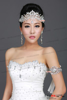 jóia de cabelo quinceanera venda por atacado-Moda Nupcial de Cristal Tiara Coroa Acessórios Para o Cabelo Para O Casamento Quinceanera Tiaras E Coroas Pageant Jóias Cabelo MYY5947