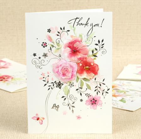 Big Size Birthday Card Thank You Card Flower 8 Patterns Mixed Gift