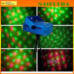 Wholesale Laser Light Projector Stars - XL077 Mini Laser Stage Lighting Projector Laser Star Stage DJ Lighting Club Disco Party Laser Stage Lighting