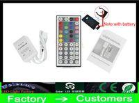 Wholesale Led Light 12v Battery - New 12V 3*2 A 44 Keys 24keys LED Controller IR Remote controller for 3538 5050 RGB LED Strip Light by DHL ship