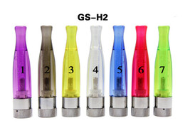 Wholesale Ego Atomizer Colors T - New GS-H2 Clearomizer atomizer Colorful E Cigarettes GS H2 Atomizer Replace Cartomizer all For eGo-T eGo 510 batter series 7 colors DHL