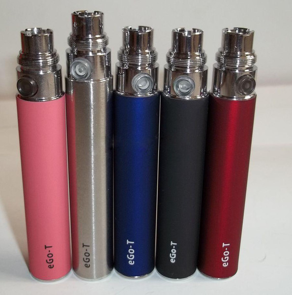 Colorful Electronic cigarette Ego-T battery for 350/650/900/1100mah high capacity factory price eGo W eGo C e-cigarette Multi Colors