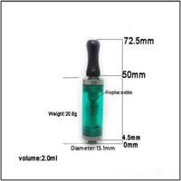 siyah ego mini toptan satış-Yüksek kaliteli Elektronik Sigara Atomizer 2.0 ml eGo T Mini vivi nova CE4 Cartomizer Siyah / Temizle / Renkli İpuçları, E-sigara Clearomizer