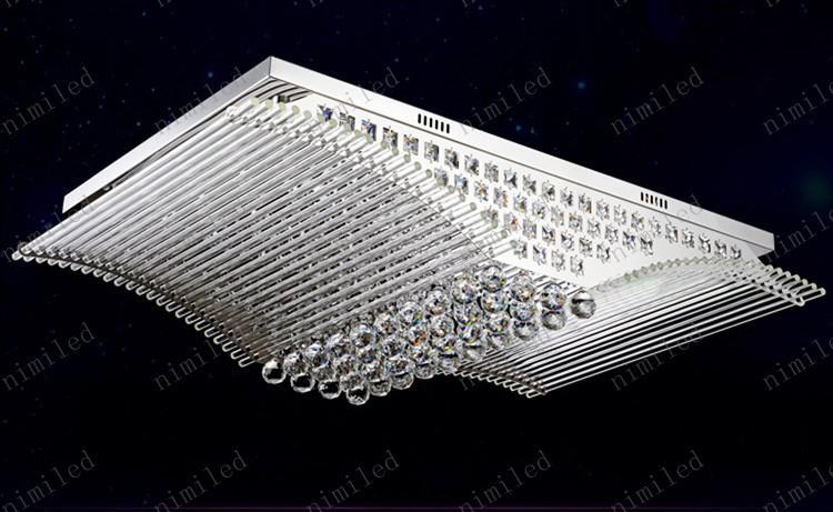 nimi125 L52 / L90 / L108cm 직사각형 현대 미니멀리스트 조명 LED 크리스탈 빛 LED 거실 침실 식당 램프 천장 조명