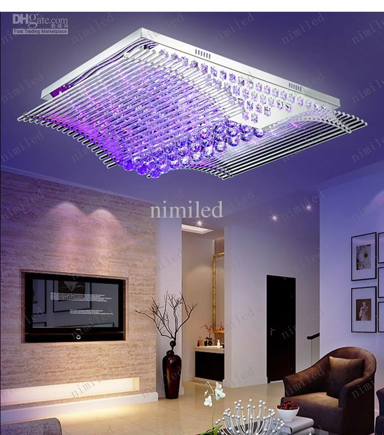 nimi125 L52 / L90 / L108cm Rectangular Modern Minimalist Lights LED Crystal Light LED Living Room Bedroom Dining Lamps Ceiling Lighting