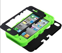 Wholesale Protective Cases Iphone5c - Hot 3in1 Hybrid PC Silicon Dual color protective fashion Phone Case Shell Cover For iPhone5C Mobile Phone Case For iphone5C iphone5 5S