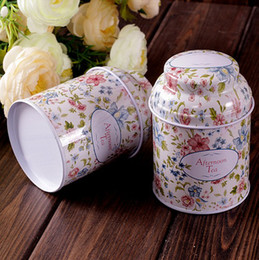Wholesale Tea Tin Box Vintage - Vintage style flower series tea box tin box storage case organizer Iron case storage container