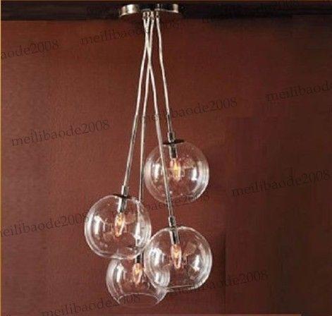 discount 4 light edison glass globe chandelier light pendant lamp hanging myy5963 retro pendant lighting pulley pendant light from - Edison Chandelier