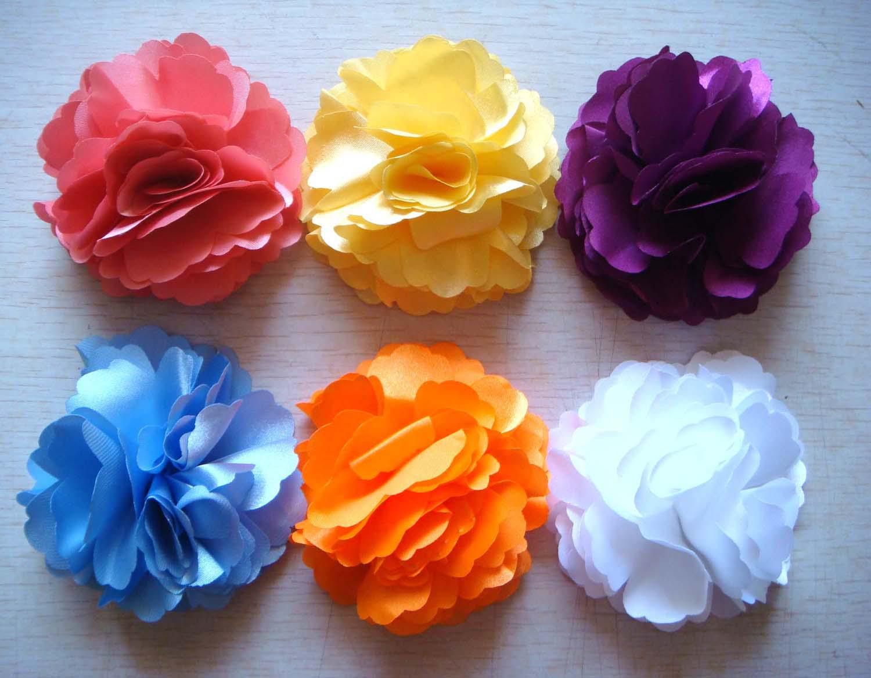 Wholesale hot sell Pure silk Headdress flower hair clip Hair Accessories Mixed colors HA20