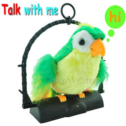 Wholesale Stuffed Parrot Toys - Recording Mimicry Talking Parrot downy imitate Record Stuffed Plush Toys Gift For Children Boys Girls Kids