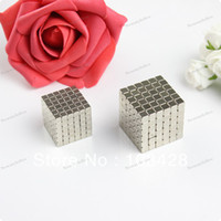 Wholesale 216 Magnets - Freeshpping-216 Magnetic Bucky Cubes Rare Earth Neodymium 4mm Strong Magnets Desktoy N35 Craft Models TO US 10 DAYS