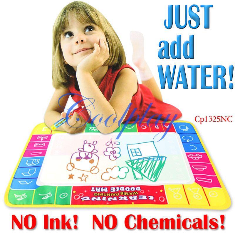 Magic Water Doodle big 72X49cm 4 colors Magic Water Doodle Mat Magic Pen/Water Drawing Board/Water Mat/aquadoodle mat 50/lot