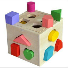 Wholesale Early Boxing - 13 holes intelligence box Shape matching toy building blocks baby educational toys kids early learning toys + free shipping